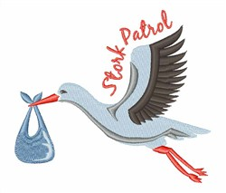 Stork Patrol embroidery design