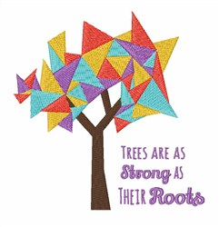 Strong As The Roots embroidery design
