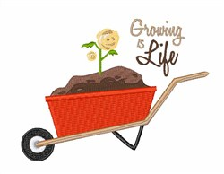 Growing Is life embroidery design