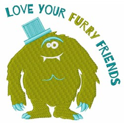 Love Your Furry Friends embroidery design