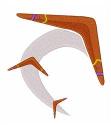 Boomerang embroidery design