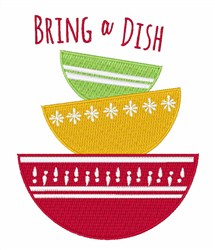 Bring A Dish embroidery design