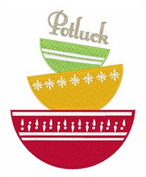 Potluck Friday embroidery design