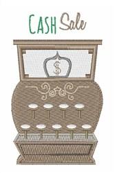 Cash Sale embroidery design