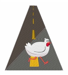 Chicken Crossing embroidery design