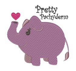 Pretty Pachyderm embroidery design