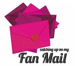 Fan Mail embroidery design
