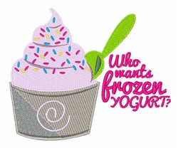 Frozen Yogurt embroidery design