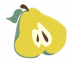 Sliced Pear embroidery design