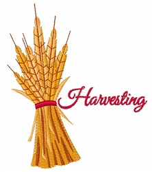 Harvesting Wheat Stalk embroidery design