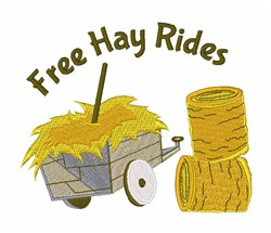 Free Hay Rides embroidery design