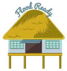 Flood Ready Stilt House embroidery design
