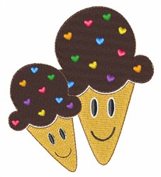 Sprinkle Ice Cream embroidery design