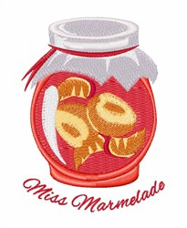 Miss Marmelade embroidery design