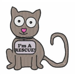 Im A Rescue Kitty embroidery design
