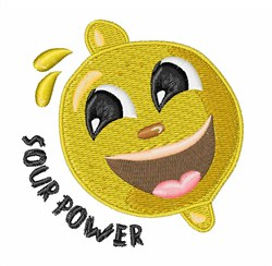 Lemon Sour Power embroidery design