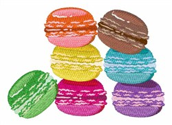 The Macaron embroidery design
