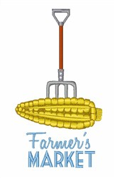 Farmers Market Corn embroidery design