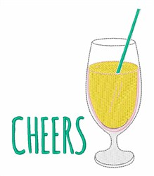 Cheers! Cocktail embroidery design