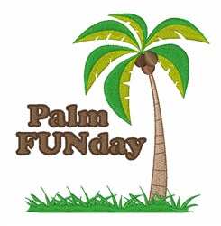 Palm Funday embroidery design