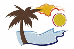 Palm Beach Vacation embroidery design