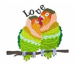 Celebrating Love Birds embroidery design
