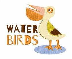 Water Birds embroidery design