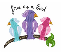 Free As Tropical Birds embroidery design