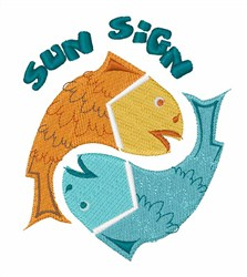 Pisces Sun Sign embroidery design