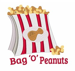 Bag O Peanuts embroidery design