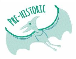 Pre-Historic Pterodactyl embroidery design