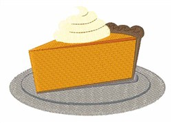 Slice Of Pumpkin Pie embroidery design