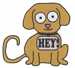 Hey! Puppy embroidery design