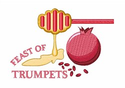 Feast Of Trumpets embroidery design