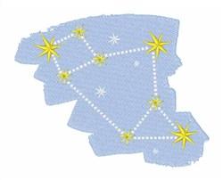 Sagittarius Constellation embroidery design