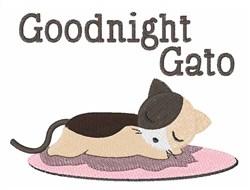Goodnight Gato embroidery design