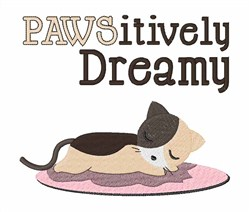 Pawsitively Dreamy Kitty embroidery design