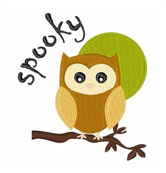 Spooky Owl embroidery design
