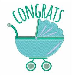 Congrats Stroller embroidery design