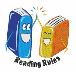 Reading Rules Books embroidery design
