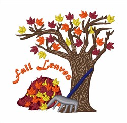 Fall Leaves Tree embroidery design