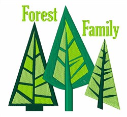 Forest Family Trees embroidery design