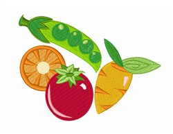 Health Foods Veggies embroidery design