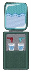 Water Cooler embroidery design