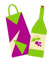 Bag Bottle embroidery design