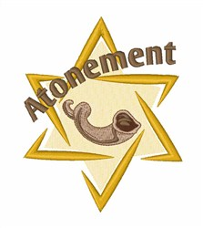 Atonement Star Shofar embroidery design