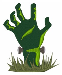 Zombie Hand embroidery design