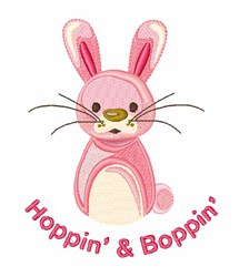 Hoppin Boppin embroidery design