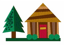 Cabin Camping embroidery design