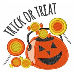 Trick Or Treat Candy embroidery design